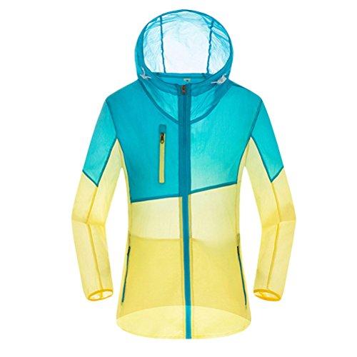 Zhhlaixing Women's Lightweight Anti-UV Waterproof Rainproof Jacket Coat Sky Blue