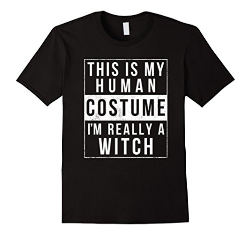 Mens Witch Halloween Costume Shirt Easy Simple Funny for Women Medium (Funny Simple Halloween Costume Ideas)