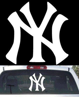 Ny yankees big rear window decal amazon co uk car motorbike
