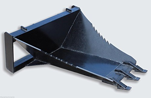 Titan Extreme HD Stump Bucket Tree Scoop Digger Skidsteer Bobcat Attachment Pull