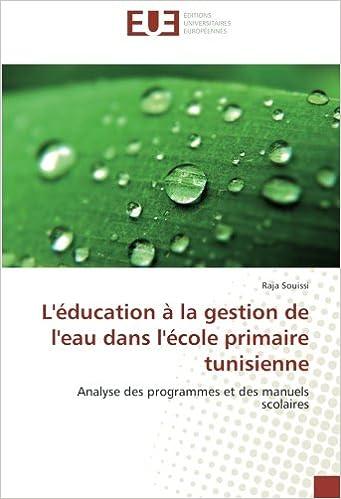 L Education A La Gestion De L Eau Dans L Ecole Primaire