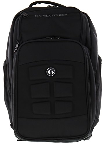6 Pack Fitness Expedition 500 Backpack - Black Stealth Meal Management Bag