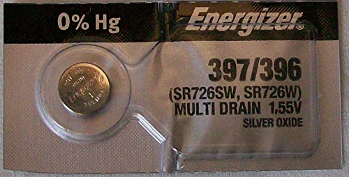 Energizer Silver Oxide Watch Battery For Energizer 397/396 Button Cell ()