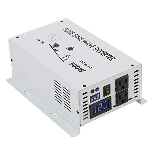 (WZRELB 500w Pure Sine Wave Solar Power Inverter 24v DC to 120v AC 60hz)