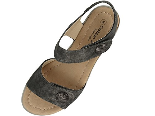 Cushion Sandales Walk Femme Sandales Cushion Walk Gris 8FxwSSRq
