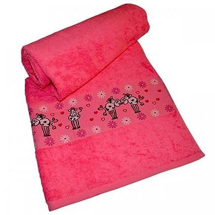 Dyckhoff Niños Baby – Toalla de invitados toalla de ducha Vaca Rosa 16 x 21 cm