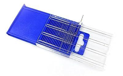Power Tools New 20pc HSS Micro-Drill Bits Index # 61-80 Set Case Hand Mini Wire Gauge Twist