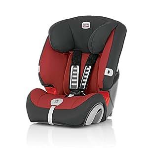 Britax 2000007857 - Silla de automóvil Evolva 123 Plus Grupo I/II/III, color rojo/negro