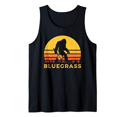 Bluegrass Bigfoot Sasquatch With Banjo Tank Top (Bluegrass Tank)