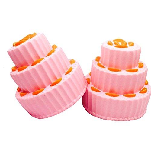 Jumbo Squishies, Multi-layer Cake Slow Rising Scented Squeeze (Lemon Layer Cake)