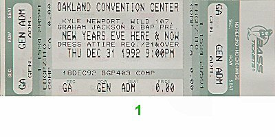 New Year's Eve Here and Now 1990s Ticket