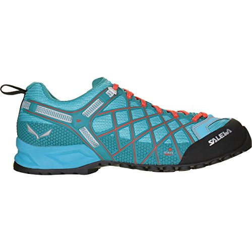 Salewa Women's Wildfire Vent-W Climbing Shoe, River Blue/Clementine, 8.5 D (Wildfire Shoes)