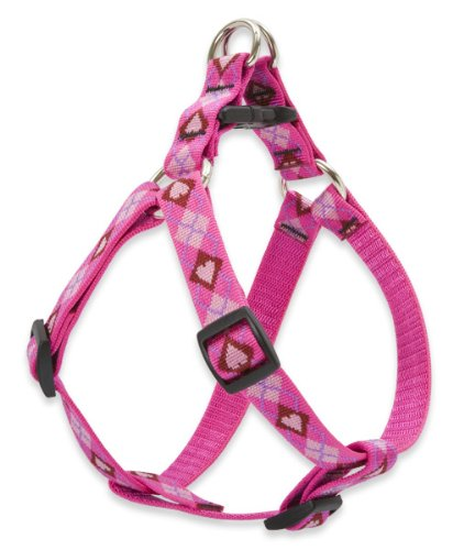 "LupinePet Originals 3/4"" Puppy Love 20-30"" Step In Harness for Medium Dogs"
