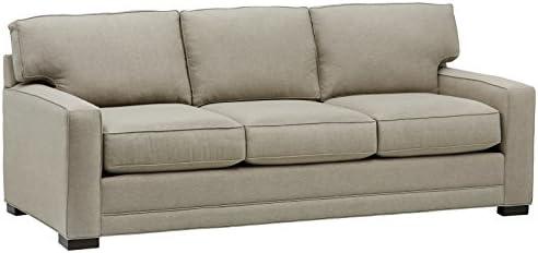 Stone Beam Dalton Sectional Sofa Couch, 91.5 W, Stone