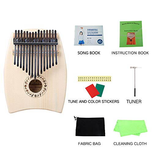 MG.QING 15-Key Kalimba Spruce G-Tone Acoustic Thumb Piano Finger Instrument Gift by MG.QING (Image #7)