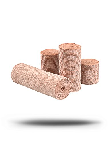 Mueller 2 x 5.3 ft Elastic Bandages, cotton and elastic, reusable