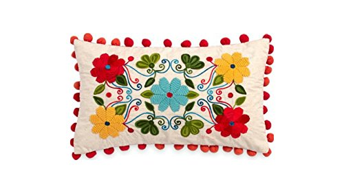 The Pìoneer Woman Floral Embroidery 12 x 20 Decorative Pill