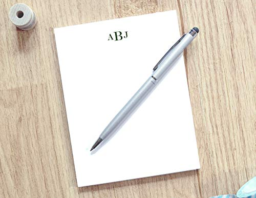 Personalized Notepad with Classic Monogram/Monogrammed Stationery Pad/Notepad with Traditional Monogram