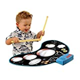 Infant Children Early Education Puzzle Enlightenment Hand Drums Learning Percussion Music Playing Music Toy Blanket (Color : Black)