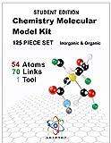 Organic Chemistry Model Kit 125 Pieces (124 pcs + Tool) - Molecular Model Kit- Students Set - Atoms Bonds and Instructional Guide - Student Set-Chemistry Model kit-by Ariktec
