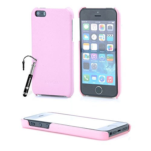 MadCase® Elegante Apple iPhone SE/Apple iPhone 5S/Apple Iphone 5 PREMIUM PU Leder Rückseite Fall Bezug in Retail Pack – Rosa