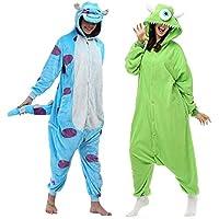 Kit 2 Pijamas Kigurumi Monstros SA Mike e Sullivan Sulley…