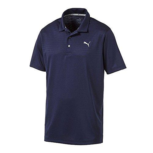 (PUMA Golf Men's Body Map Jacquard Polo, Peacoat, Medium)