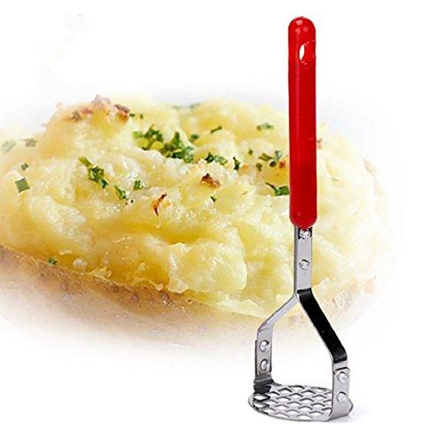 Square Potato Masher - Naladoo Potato Musher,Kitchen Stainless Steel Potato Mashers Ricers Garlic Mud Pressure puree Tool