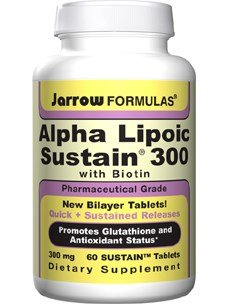 Jarrow Formulas Alpha Lipoic Sustain 300 -- 60 Tablets - Vegan ( Multi-Pack)