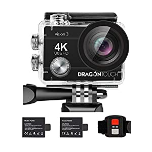Flashandfocus.com 41CJDiKKWpL._SS300_ Dragon Touch 4K Action Camera 16MP Vision 3 Underwater Waterproof Camera 170° Wide Angle WiFi Sports Cam with Remote 2…