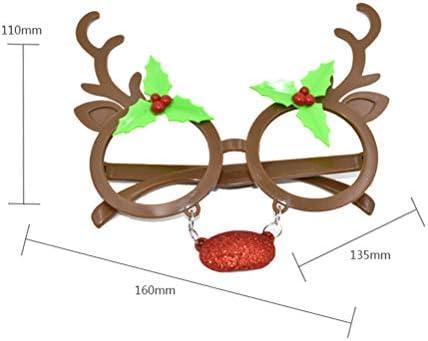 BESTOYARD Navidad Gafas con Nariz para niños y Adultos Reno ...