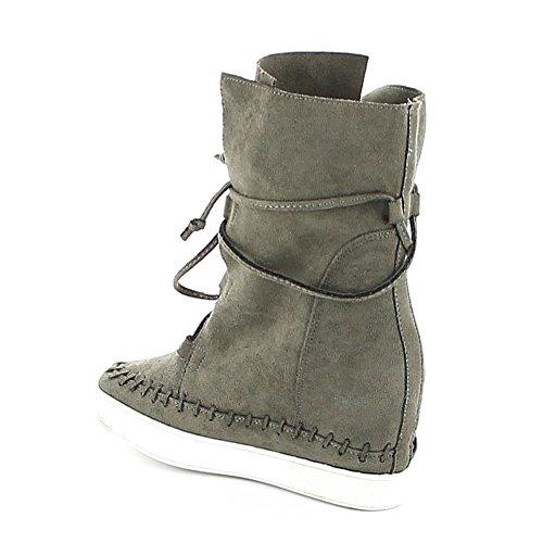 Misstic - Zapatillas de Deporte de Lona Mujer caqui