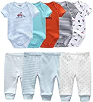 Kiddiezoom Baby Boys 4-Pack Pant Baby Girls Organic Cotton Trousers