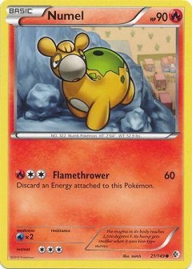 Numel Common Card - Pokemon - Numel (21/149) - BW - Boundaries Crossed