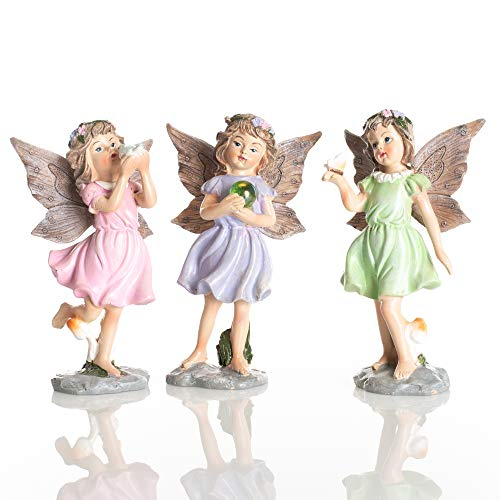 Delton 5.5 Inches Resin Standing Fairies,Set Of 3