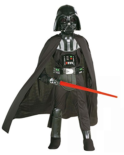 Rubies Star Wars Classic Child's Deluxe Darth Vader Costume and Mask, Medium]()