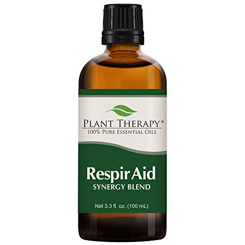 Plant Therapy Respir Aid Essential Oil | Sinus, Airway and Congestion Clearing Synergy Blend | 100% Pure, Undiluted, Natural Aromatherapy, Therapeutic Grade | 100 milliliter (3.3 ounce)