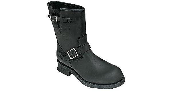 Botas de Piel Color Negro Para Hombre Kochmann Engineer Boot