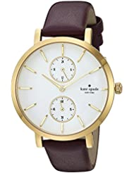 kate spade new york Womens Monterey Quartz Stainless Steel and Leather Casual Watch, Color:Purple (Model: KSW1334)