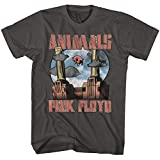 Pink Floyd 1965 English Rock Band Animals When Pigs Fly Adult T-Shirt Tee