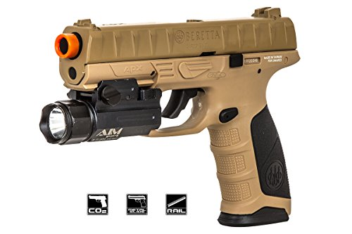 Elite Force Beretta APX CO2 Blowback Pistol Airsoft Gun (FDE) (Umarex Elite Force 1911 Tac Gen3 Airsoft Pistol)
