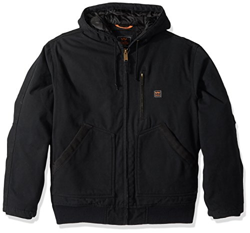 (Walls Men's Lancaster Blizzard Pruf Hooded Jacket, Midnight Black, X-Large)