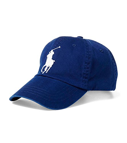 Polo Ralph Lauren Men Big Pony Logo Hat Cap (One size, Navy)