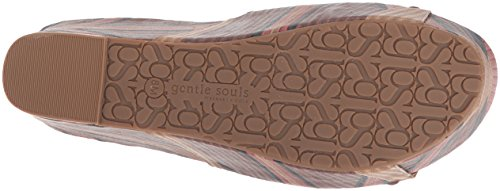 Gentle Souls Women's Forella Platform Slip Slide Sandal, Medium Brown/Multi