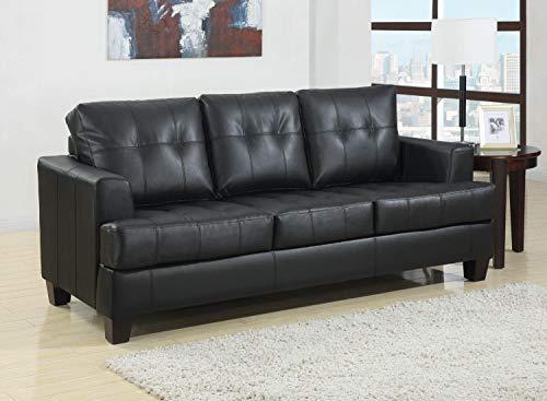 Coaster Home Furnishings Armand Leather Sofa Black
