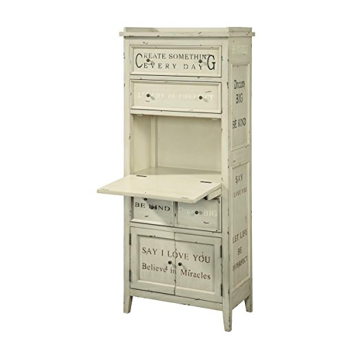 Pulaski Allyssa Accent cabinet, 27 by 15 by 64-Inch, (Distressed Painted Cabinets)