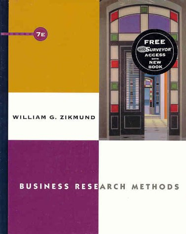 Business Research Methods with WebSurveyor Certificate