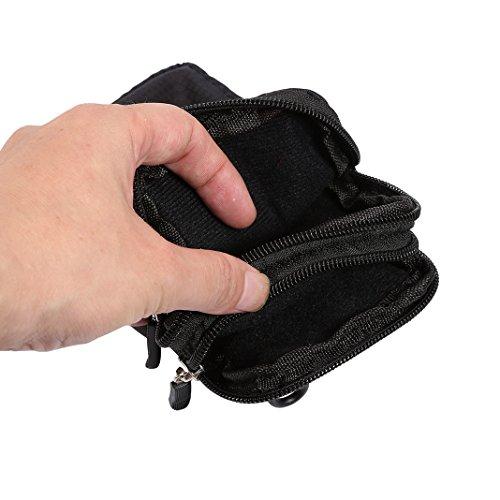 Double Pocket Black Pockets Bags Zipper Pouch Pack Layer Men Holster Bag with Cross Schleife Messenger Locking Ladies Practical Purse Waist Bag Waist Handbag Pouch Bag Bag Shoulder Belt Shoulder Body Rosa 7qBn1vxwAU
