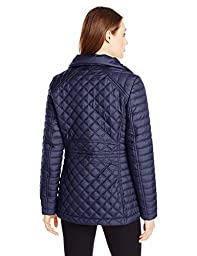Marc New York by Andrew Marc Women\'s Lightweight Quilted Jacket with Hood, Midnight, Large