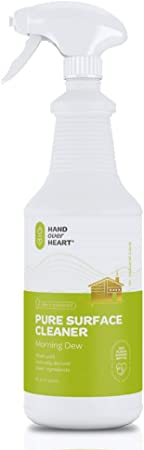 Hand over Heart Pure Surface Cleaner - Multi Purpose Spray - All-Natural Chemical-Free Eco-Friendly Cleanser Perfect for Kitchen Bathroom and Any Non-Porous Surface Safe to Use Around Kids and Pets